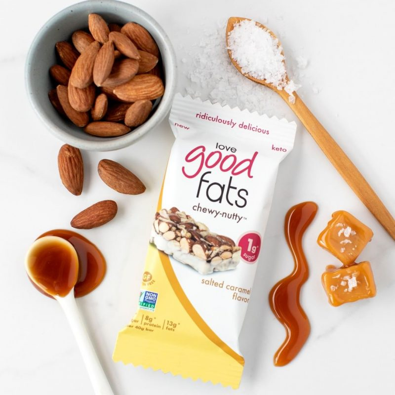 Salted Caramel Bar 1 - Love Good Fats - Keto Certified by the Paleo Foundation