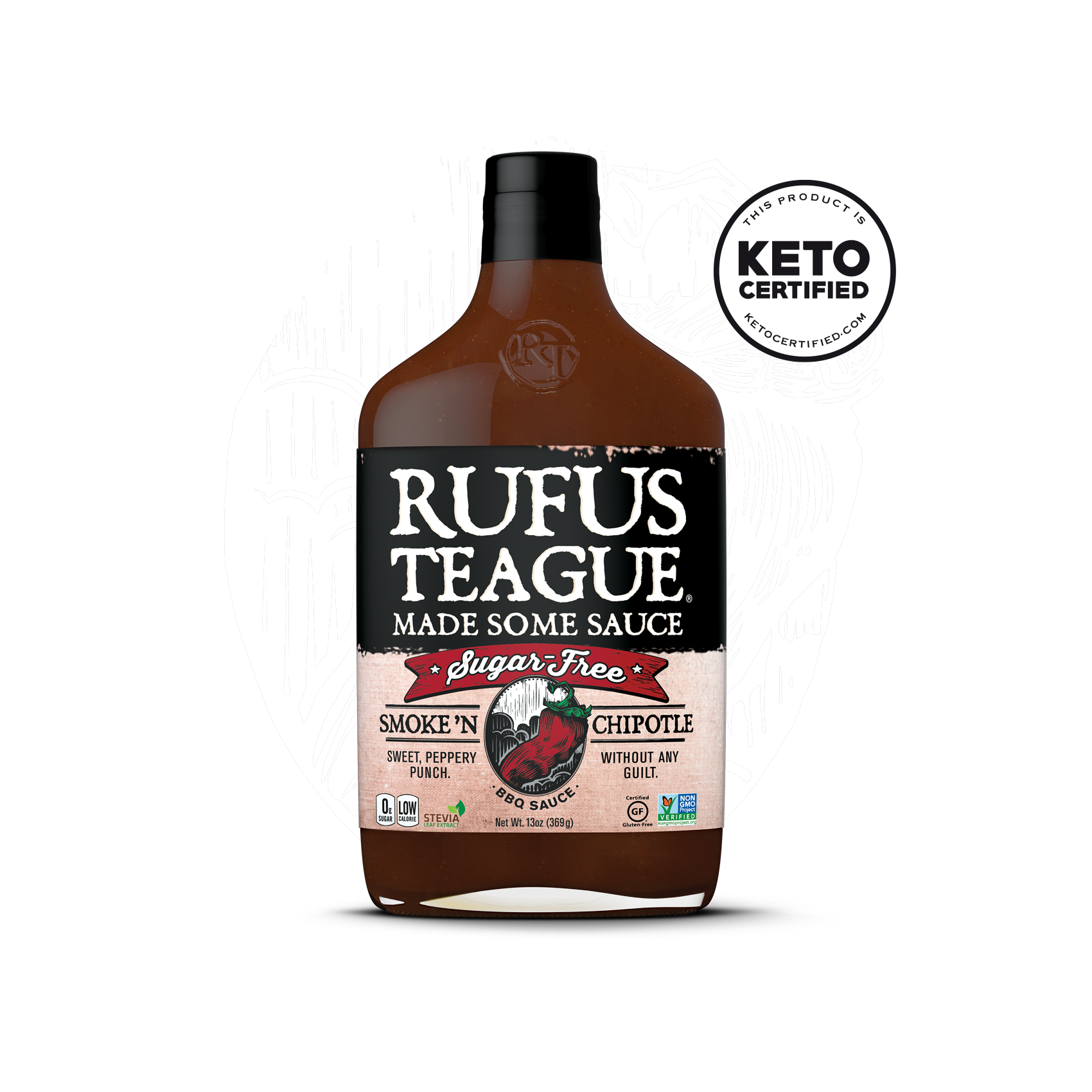 Smoke N' Chipotle BBQ w: logo - Rufus Teague - Keto Certified by the Paleo Foundation