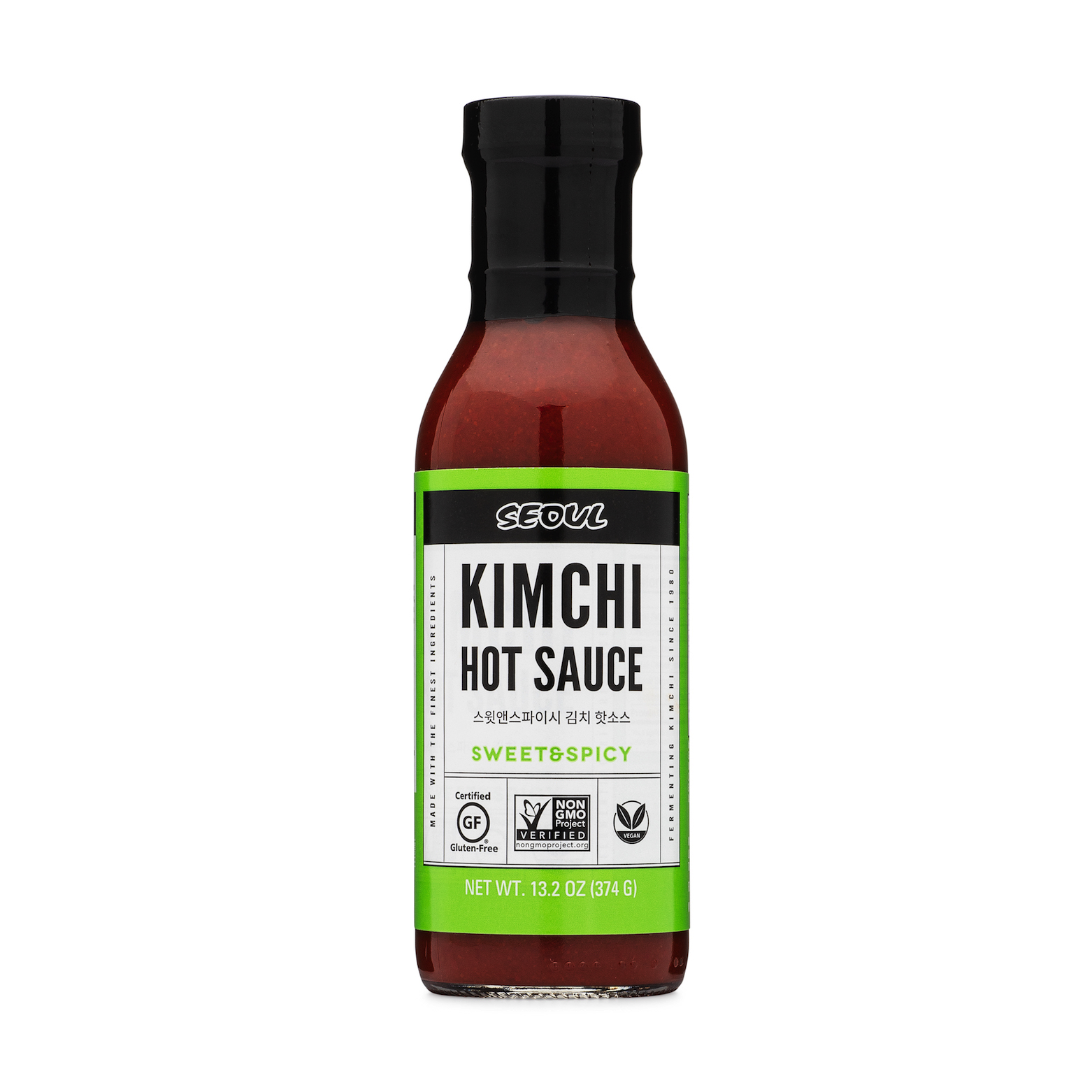 sweet and spicy kimchi hot sauce