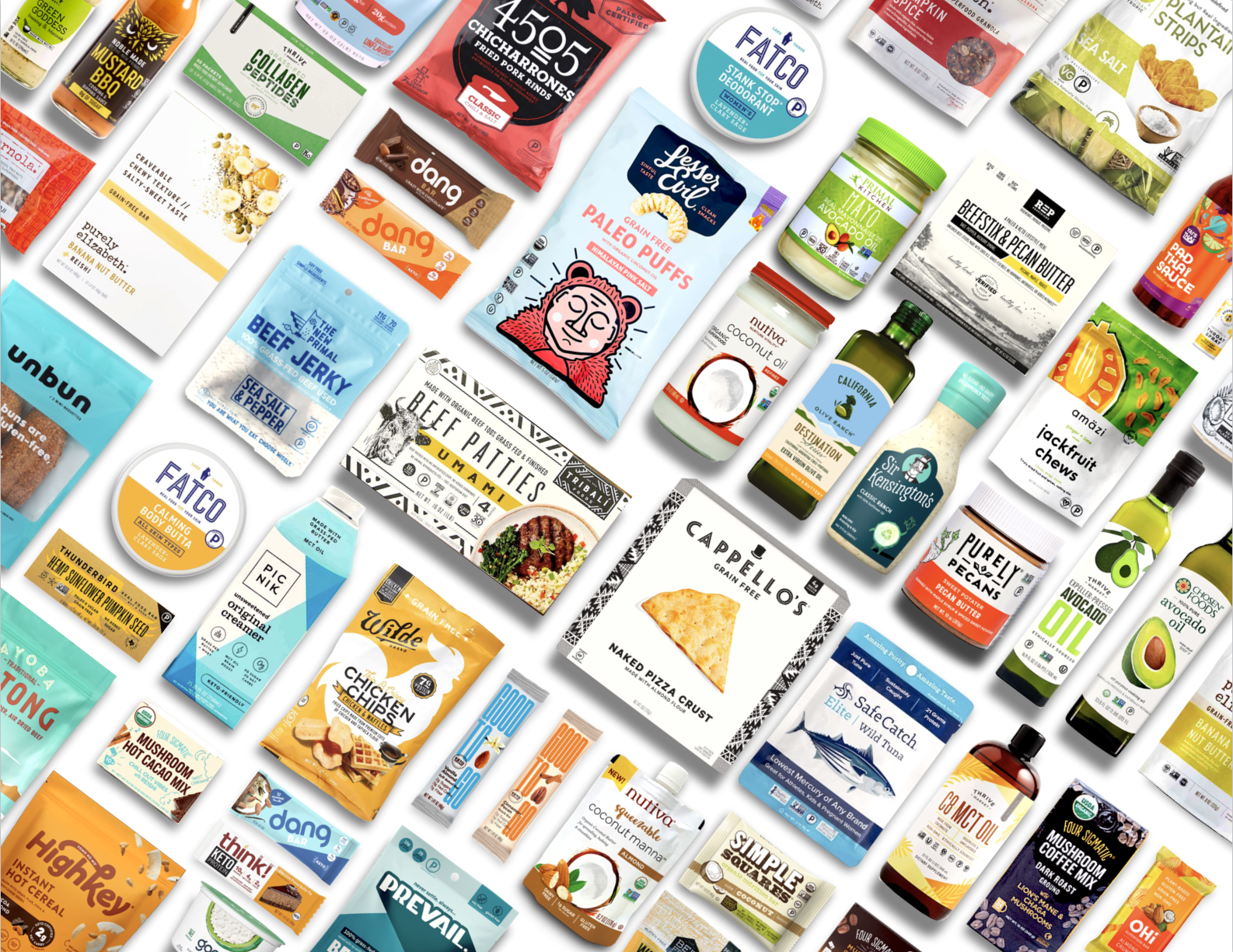 thousands of grain-free, paleo, keto certified brands