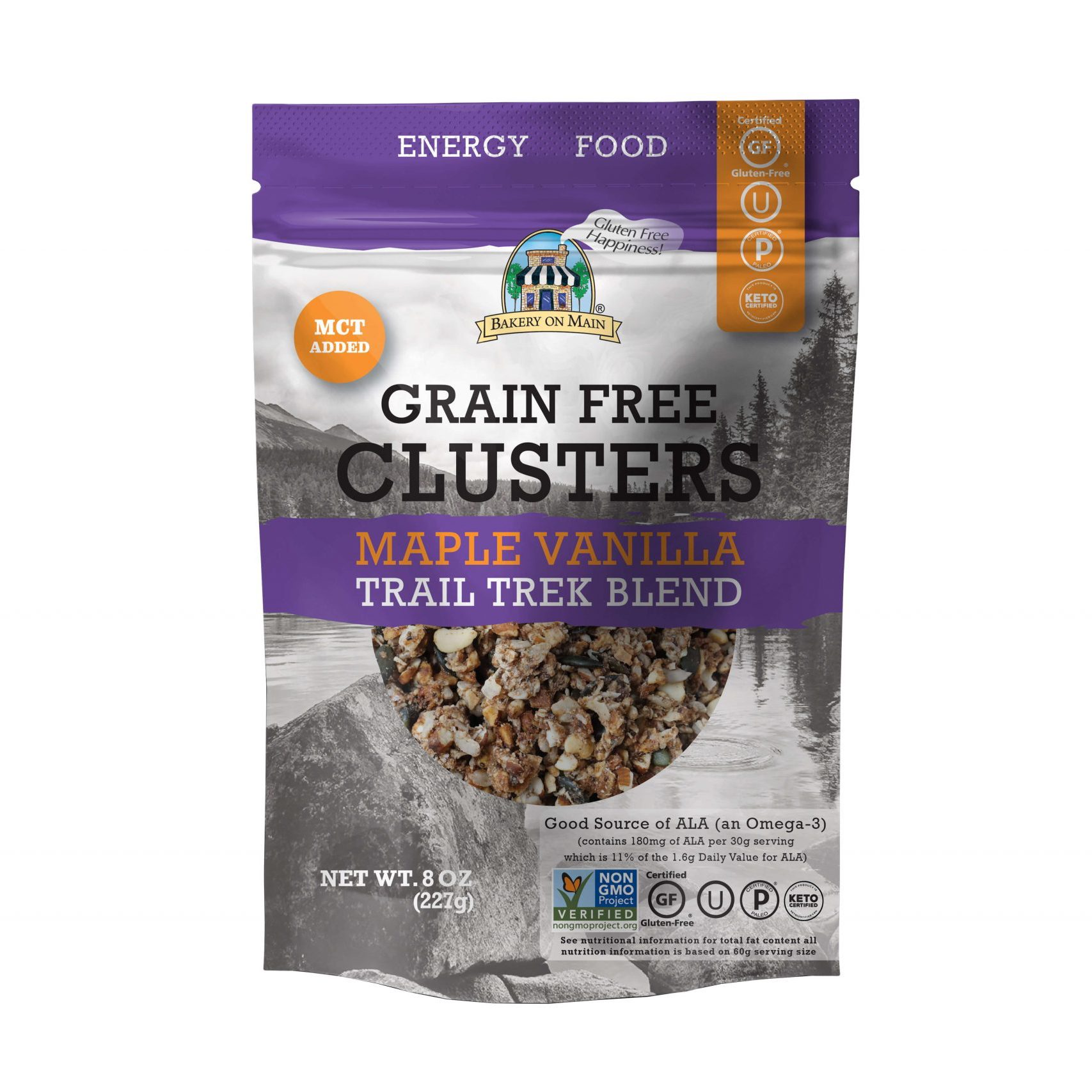 Grain-Free Clusters Maple Vanilla Trail Trek Blend - Bakery on Main - Keto Certified by the Paleo Foundation