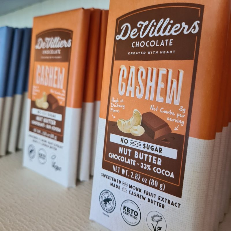No Added Sugar Cashew Nut Butter Chocolate with Cashew - Keto Certified by the Paleo Foundation