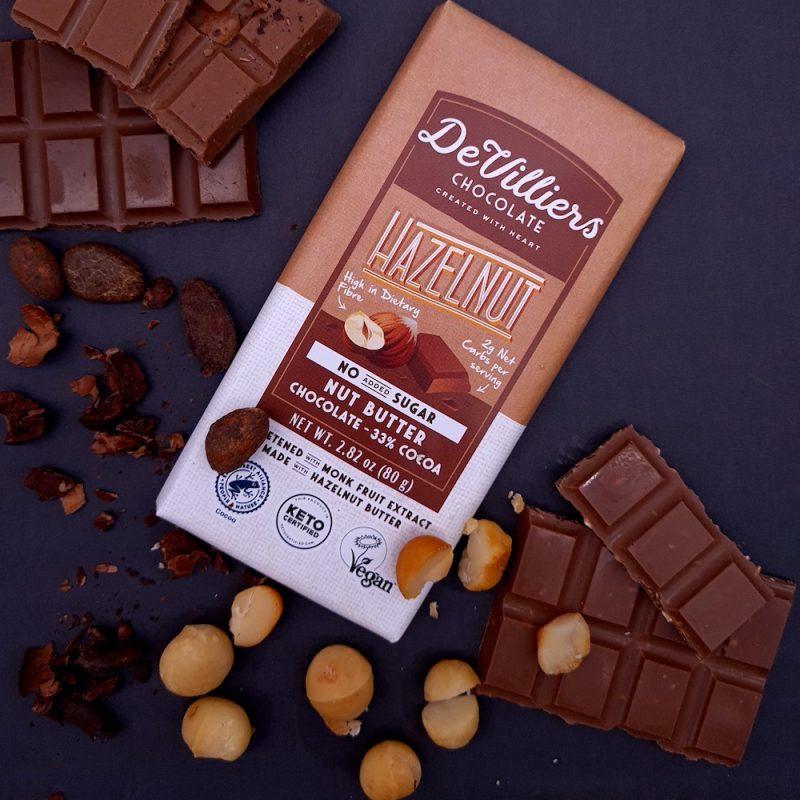No Added Sugar Hazelnut Nut Butter Chocolate with Hazelnut 01 - Keto Certified by the Paleo Foundation