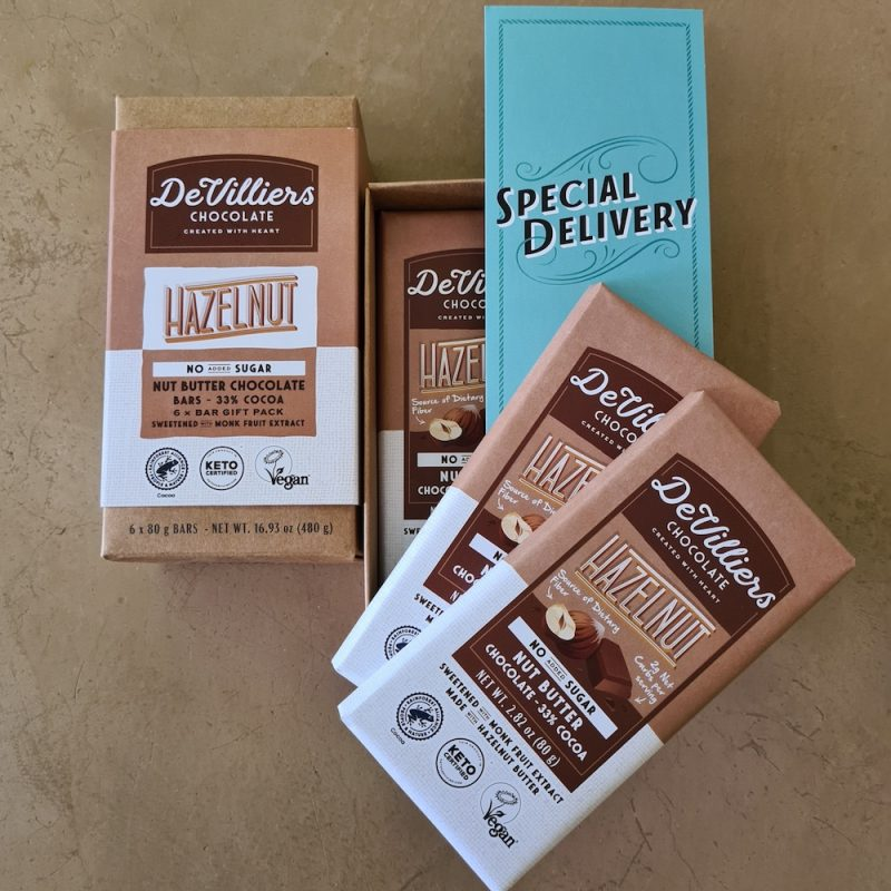 No Added Sugar Hazelnut Nut Butter Chocolate with Hazelnut 02 - Keto Certified by the Paleo Foundation