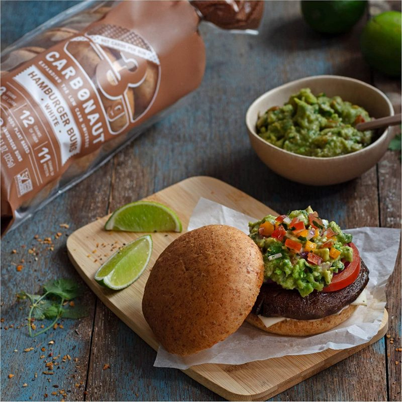 Burger With Low Carb Bun - Carbonaut - Keto Certified by the Paleo Foundation