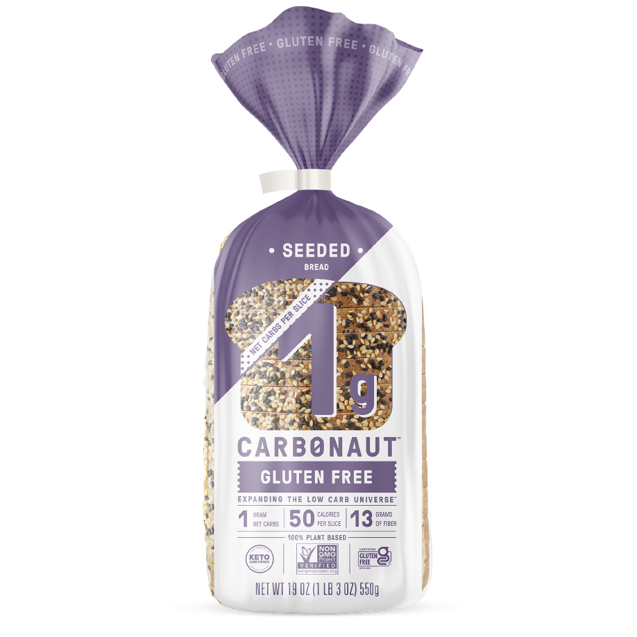 Gluten Free Seeded Bread - Carbonaut - Keto Certified by the Paleo Foundation