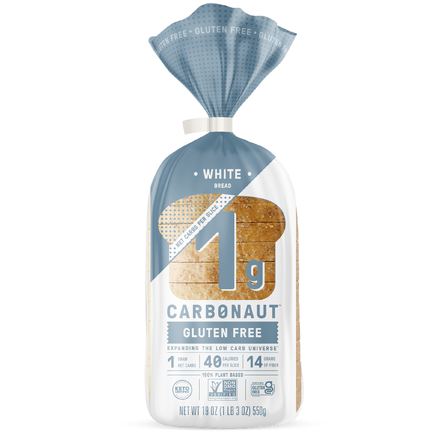 Gluten Free White Bread - Carbonaut - Keto Certified by the Paleo Foundation