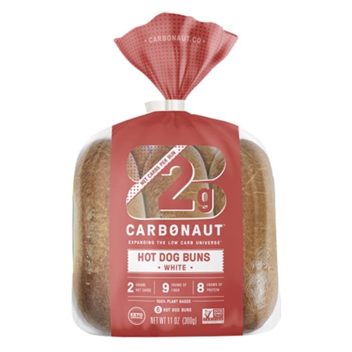 Hot Dog Buns White - Carbonaut - Keto Certified by the Paleo Foundation