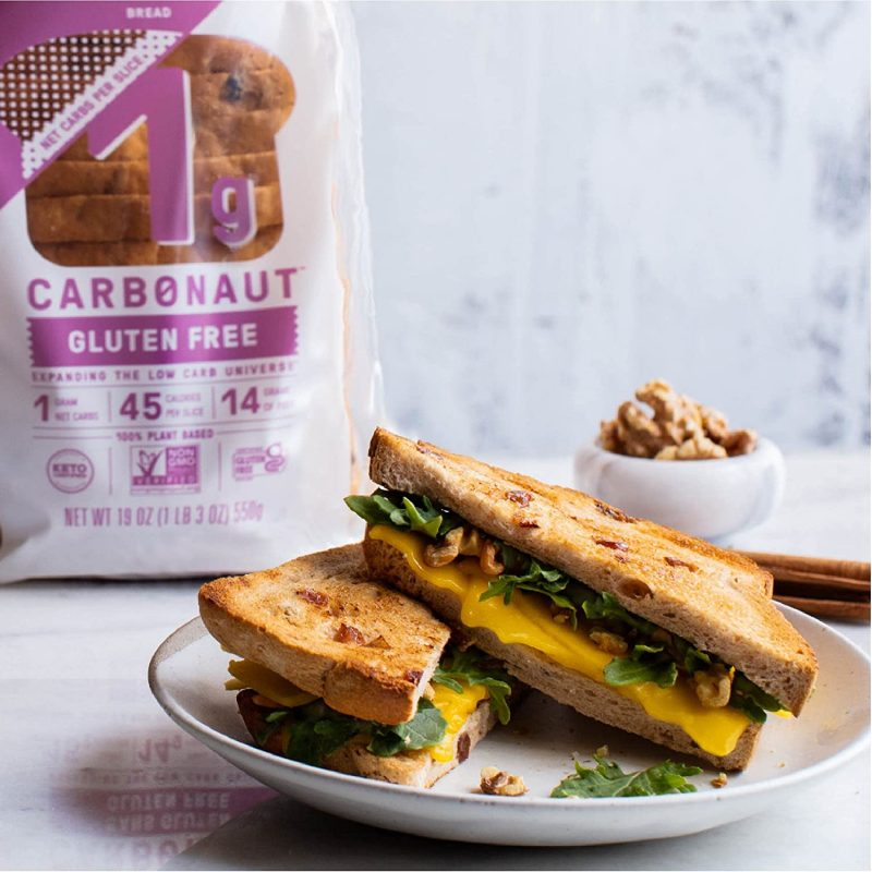 Sandwich With Cinnamon Raisin Bread - Carbonaut - Keto Certified by the Paleo Foundation