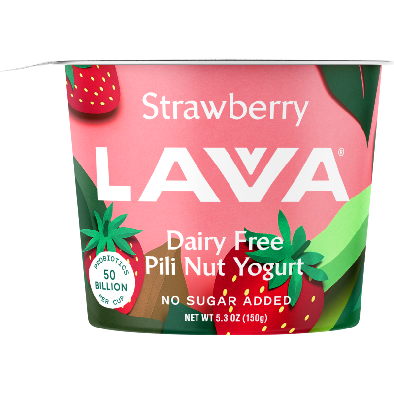 Strawberry Lavva Dairy Free Pili Nut Yogurt - LovveLavva - Certified Paleo by the Paleo Foundation