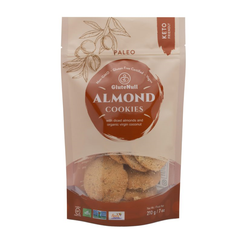 Almond Cookies - GluteNull - Keto Certified by the Paleo Foundation