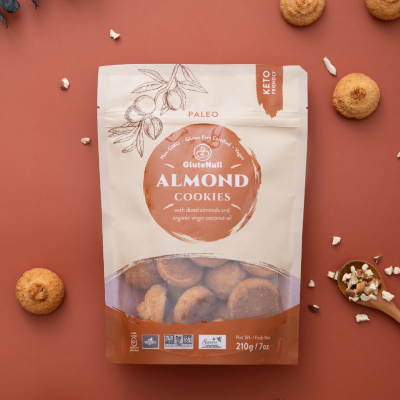 Almond Cookies Package - GluteNull - Keto Certified by the Paleo Foundation