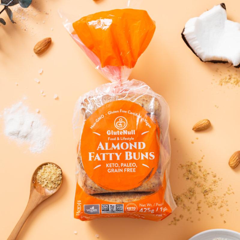 Almond Fatty Buns - GluteNull - Keto Certified by the Paleo Foundation