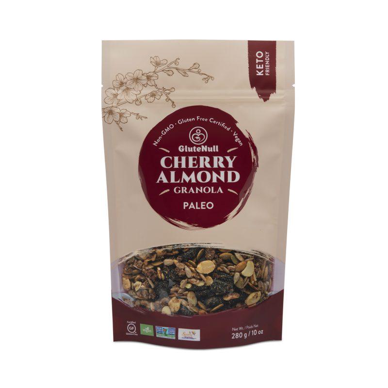 Cherry Almond Granola - GluteNull - Keto Certified by the Paleo Foundation