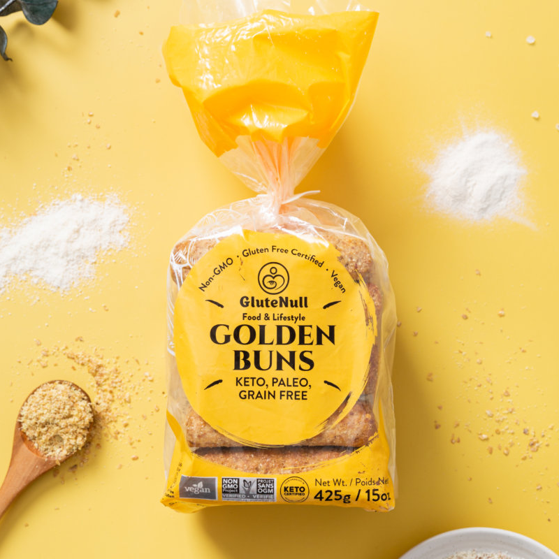 Golden Buns - GluteNull - Keto Certified by the Paleo Foundation