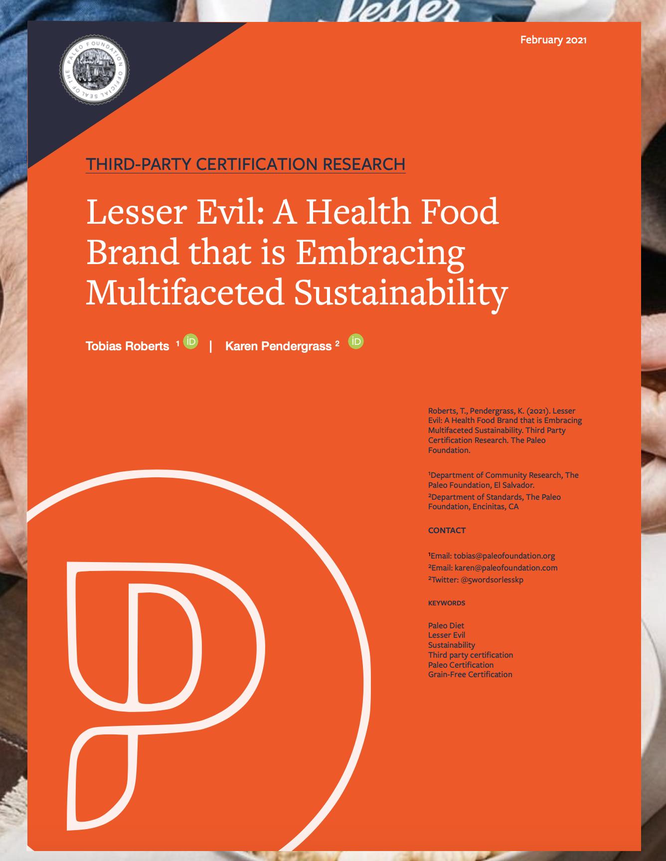 Lesser Evil Grain-Free Certified Case Study