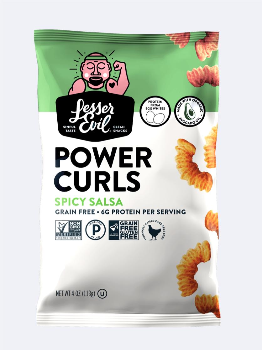 Lesser Evil Power Curls Grain Free Snacks