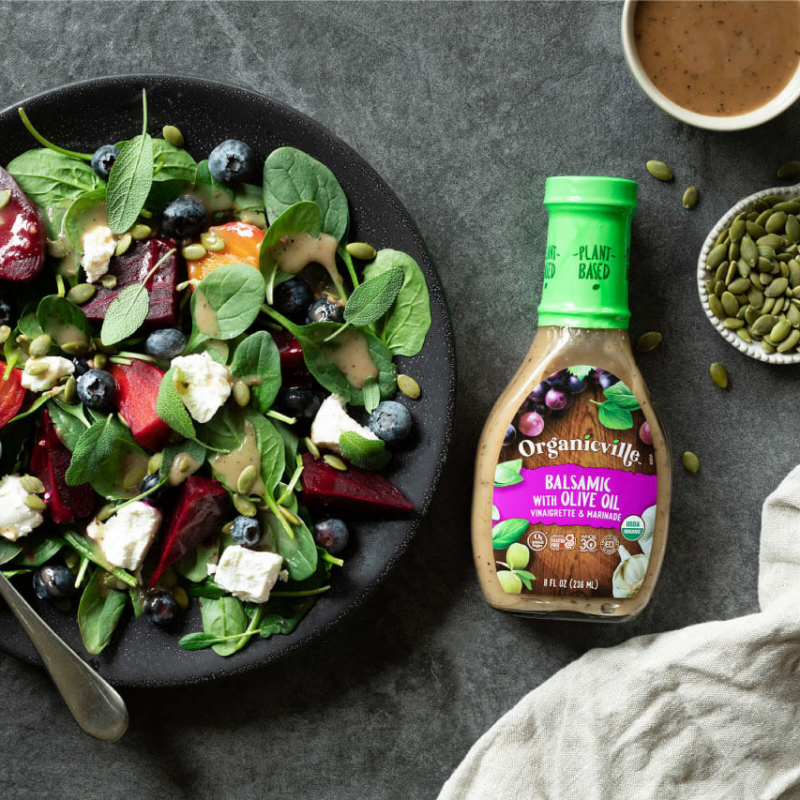 Balsamic Dressing Spinach And Fruit Salad 2 - Organicville - Certified Paleo by the Paleo Foundation