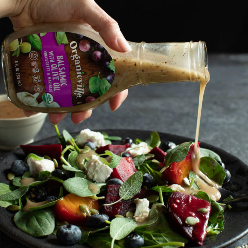 Balsamic Dressing Spinach And Fruit Salad - Organicville - Certified Paleo by the Paleo Foundation