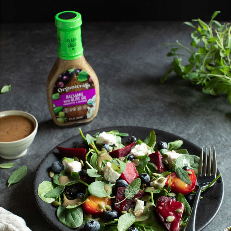Balsamic Dressing Spinach Salad 2 - Organicville - Certified Paleo by the Paleo Foundation