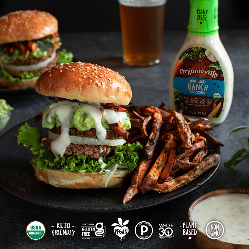 Non Dairy Ranch Black Bean Burgers - Organicville - Certified Paleo by the Paleo Foundation