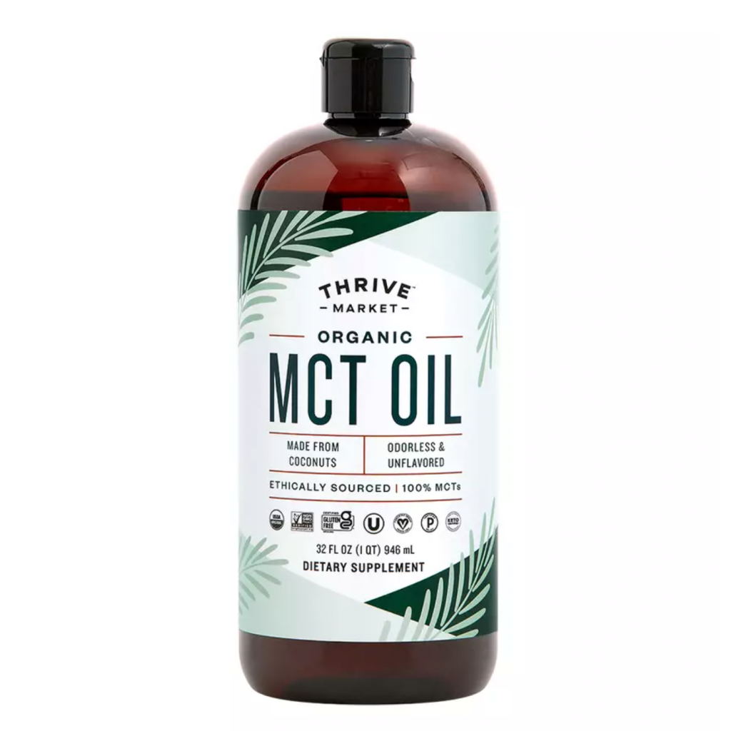 Organic MCT Oil - Thrive Market - Certified Paleo KETO Certified by the Paleo Foundation
