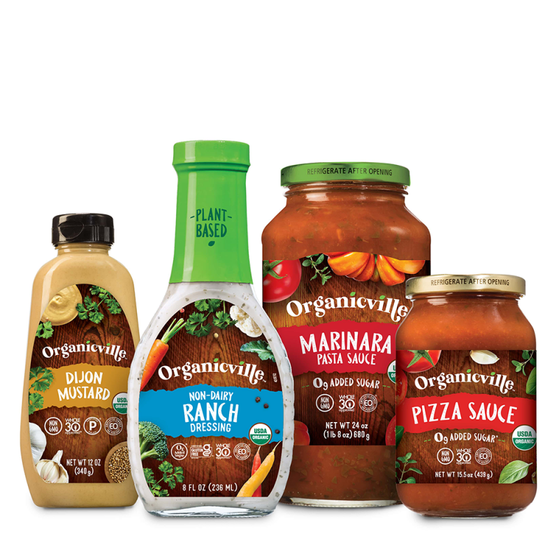 Organicville Sauce Dressing Lineup - Organicville - Certified Paleo by the Paleo Foundation