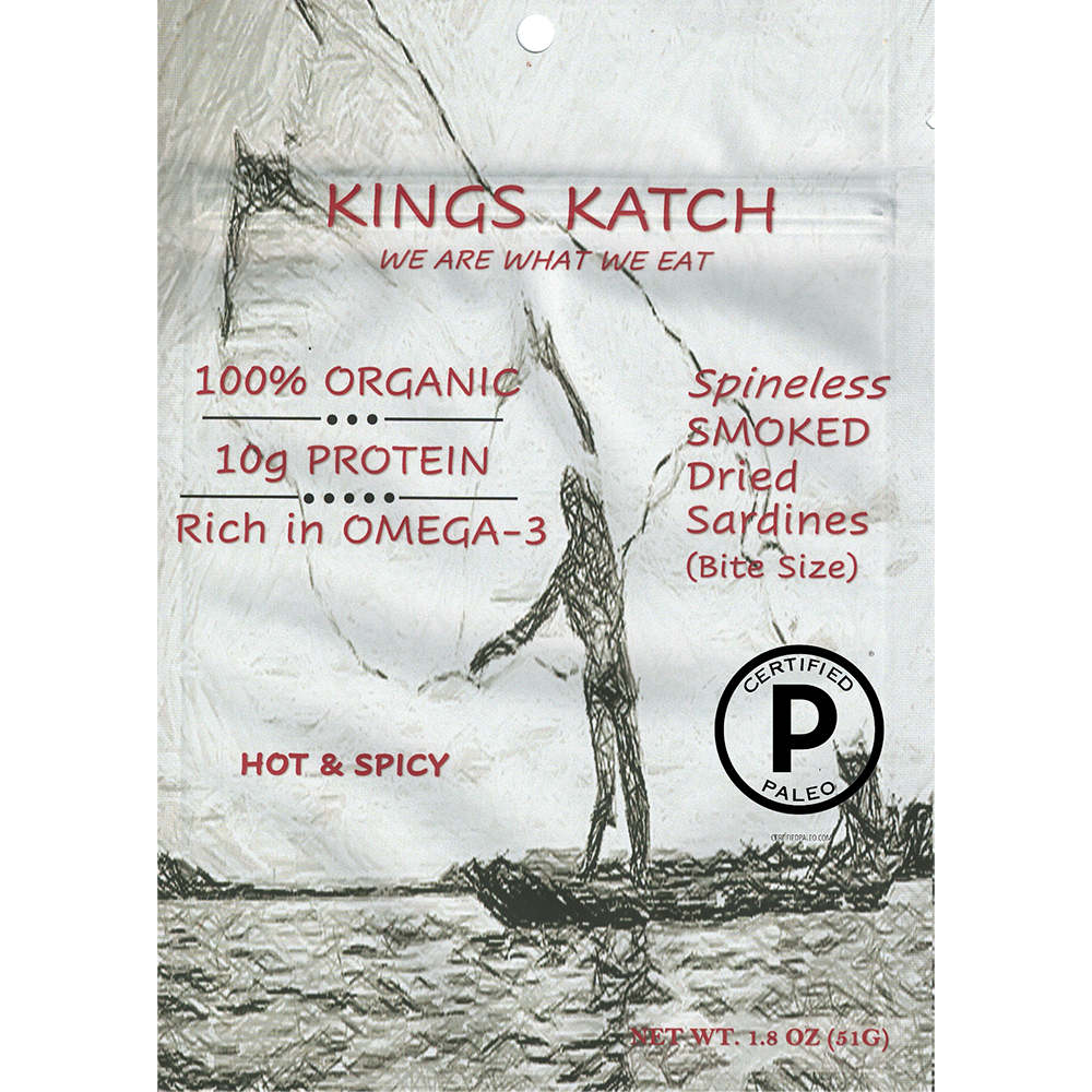 Smoked Sardine Hot and Spicy - Kings Katch - Certified Paleo by the Paleo Foundation