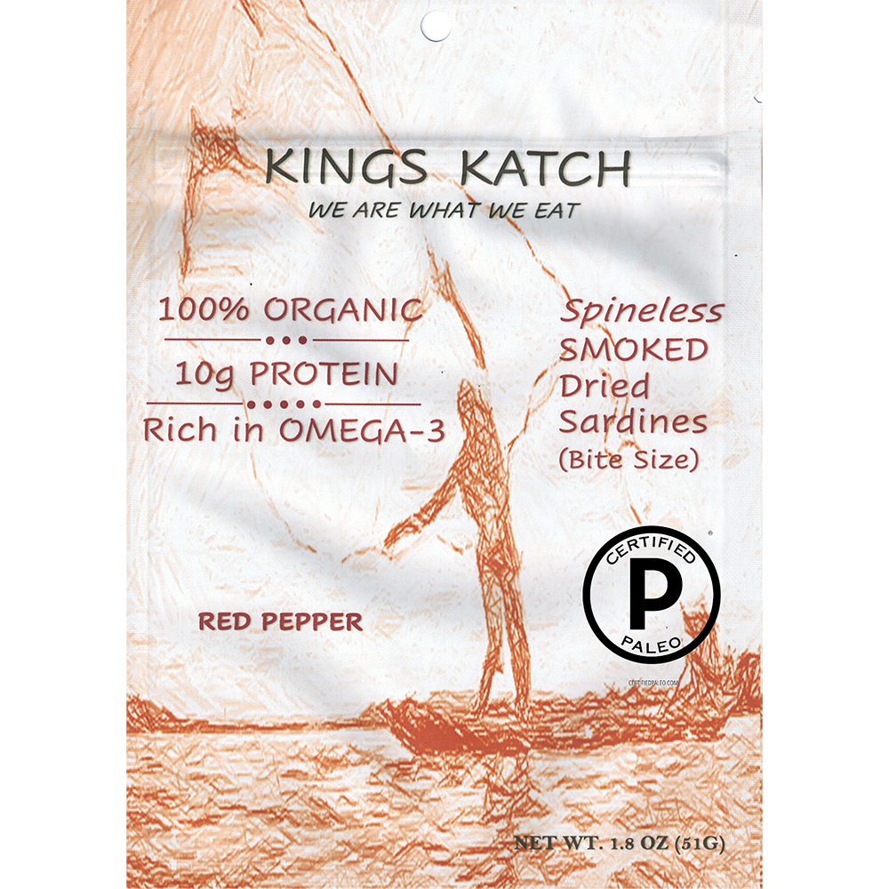 Smoked Sardine Red Pepper - Kings Katch - Certified Paleo by the Paleo Foundation
