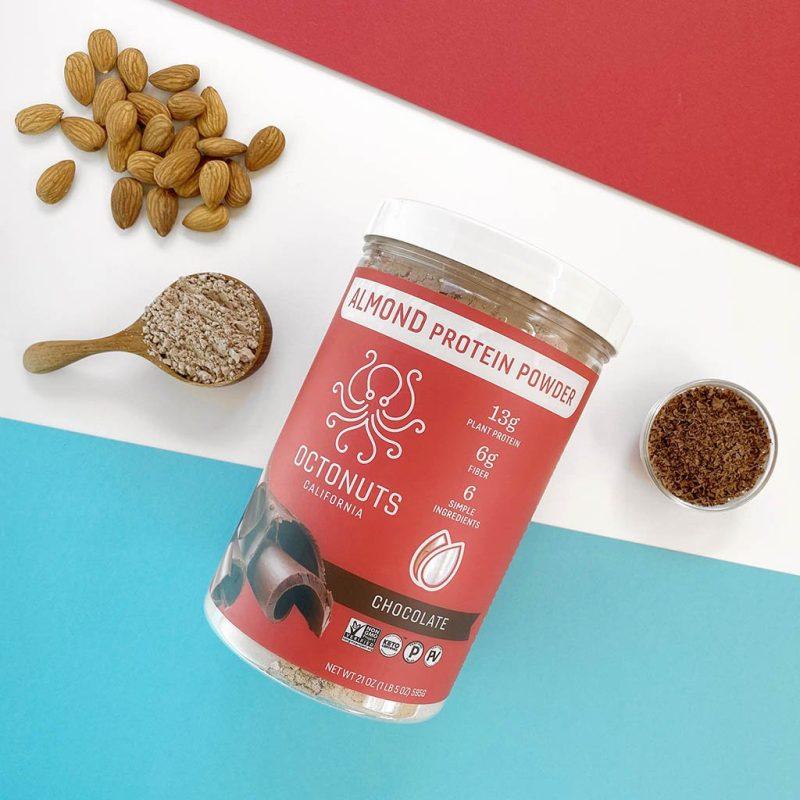 Chocolate Almond Powder Scoop - Octonuts - Certified Paleo Keto Certified Paleo Vegan Grain Free by the Paleo Foundation