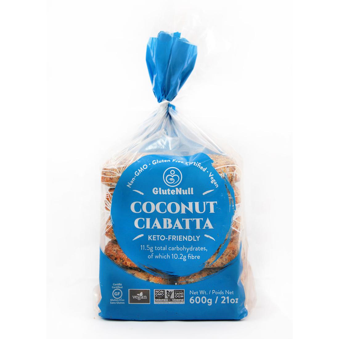 Coconut Ciabatta - Glutenull - Keto Certified by the Paleo Foundation