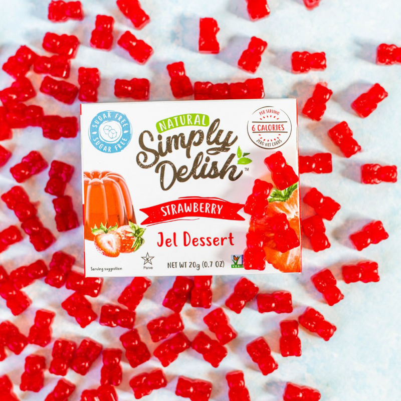 Homemade Strawberry Jel Gummy Bears - Simply Delish - Keto Certified by the Paleo Foundation