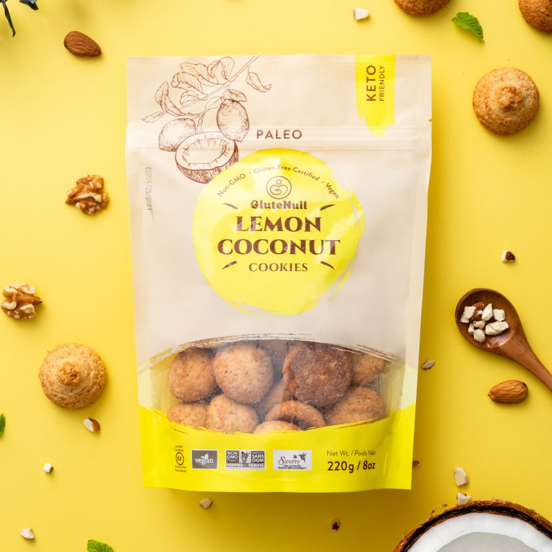 LEMON COCONUT Cookies - GluteNull - Keto Certified by the Paleo Foundation