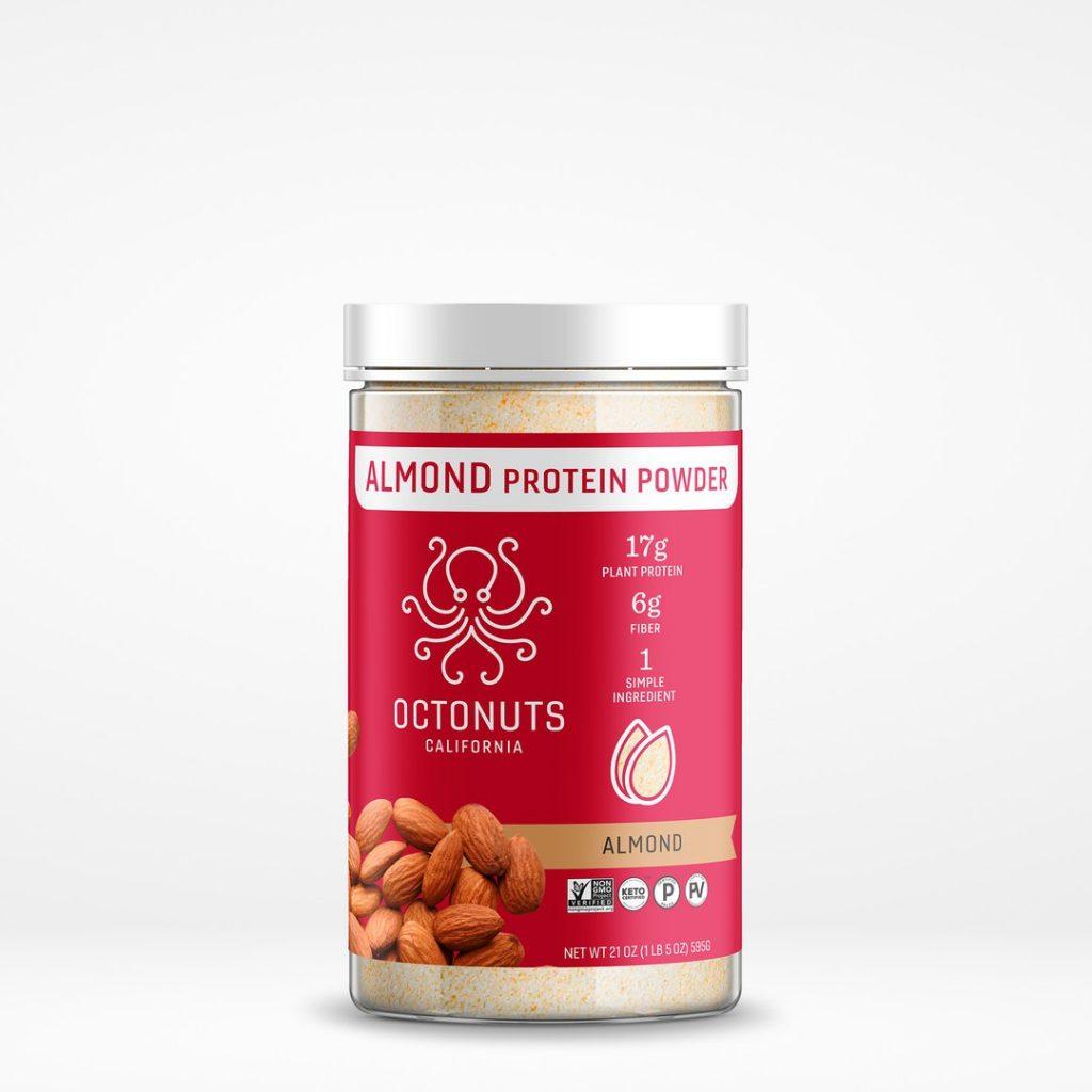 Octonuts - Almond Protein Powder - Certified Paleo Keto Certified Paleo Vegan Gluten Free by the Paleo Foundation