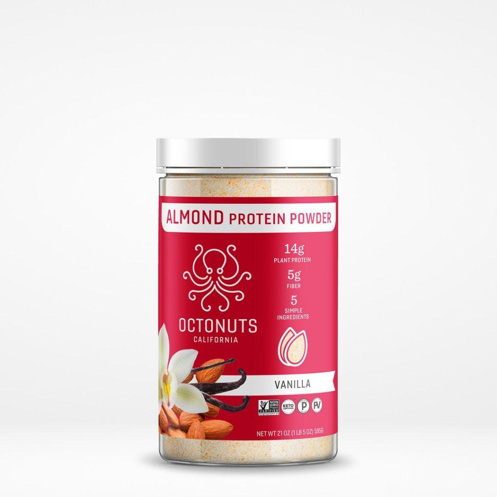Octonuts Vanilla Almond Protein Powder - Certified Paleo Keto Certified Paleo Vegan Gluten Free by the Paleo Foundation