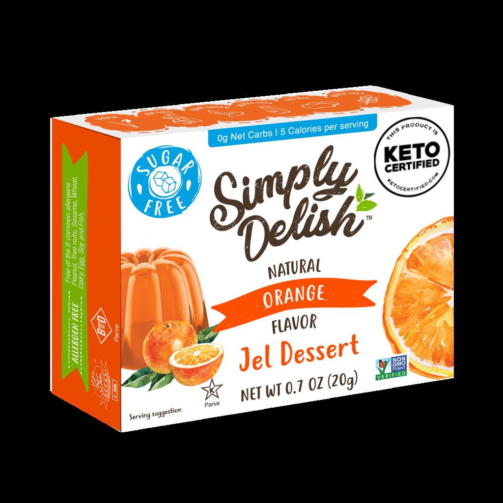 Orange Jel Dessert - Simply Delish - Keto Certified by the Paleo Foundation