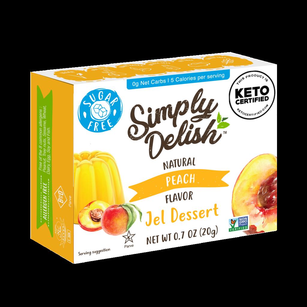 Peach Jel Dessert - Simply Delish - Keto Certified by the Paleo Foundation