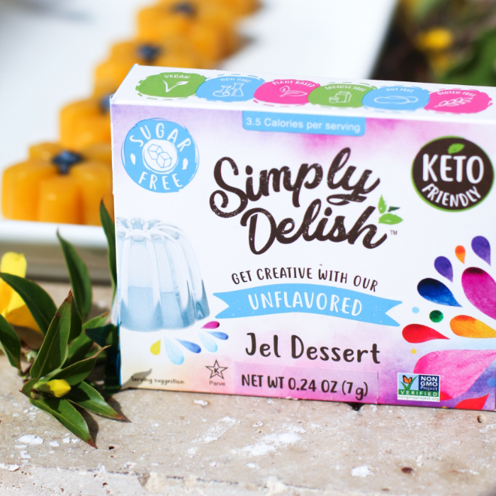 Unflavored Jel Dessert - Simply Delish - Keto Certified by the Paleo Foundation