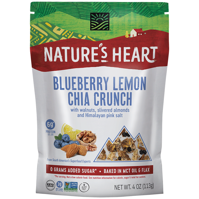 Blueberry Lemon Chia Crunch - Nature's Heart - Keto Certified by the Paleo Foundation
