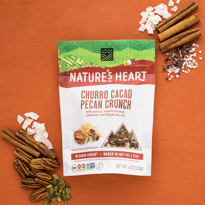 Churro Cacao And Cinnamon Sticks - Nature's Heart - Keto Certified by the Paleo Foundation