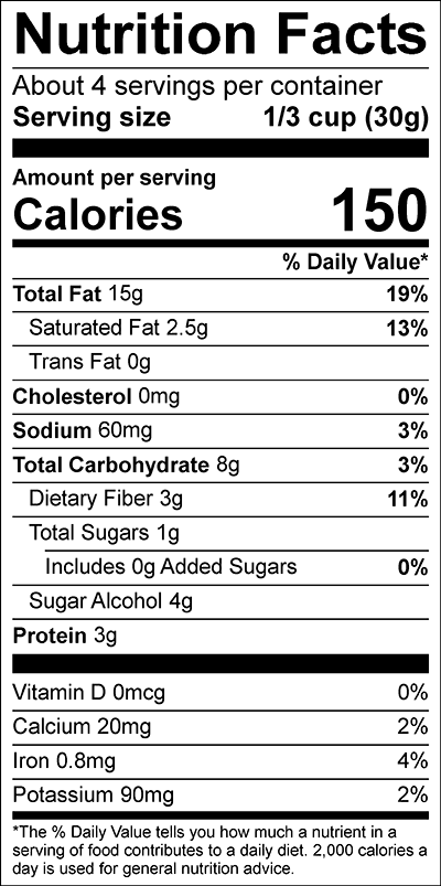 Churro Cacao Pecan Crunch NFP - Nature's Heart - Keto Certified by the Paleo Foundation
