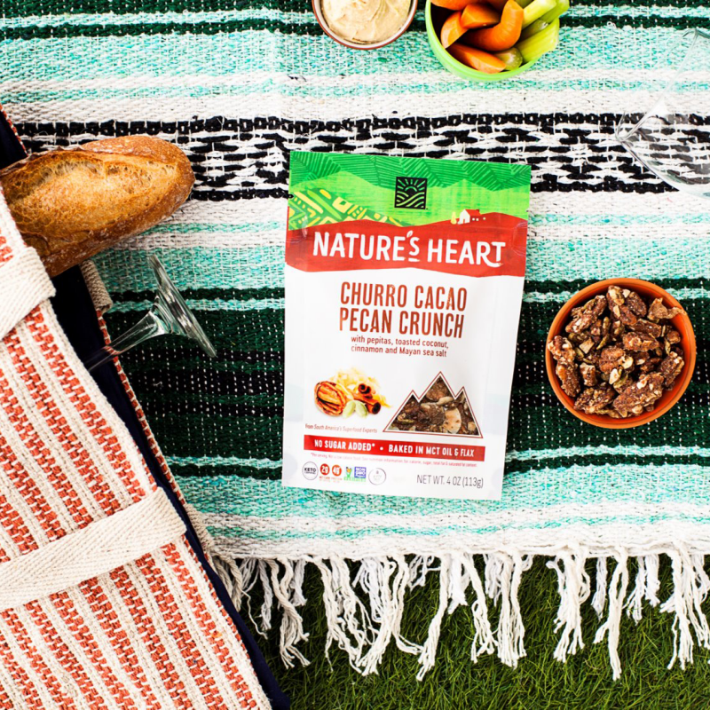 Churro Cacao With Pecans - Nature's Heart - Keto Certified by the Paleo Foundation