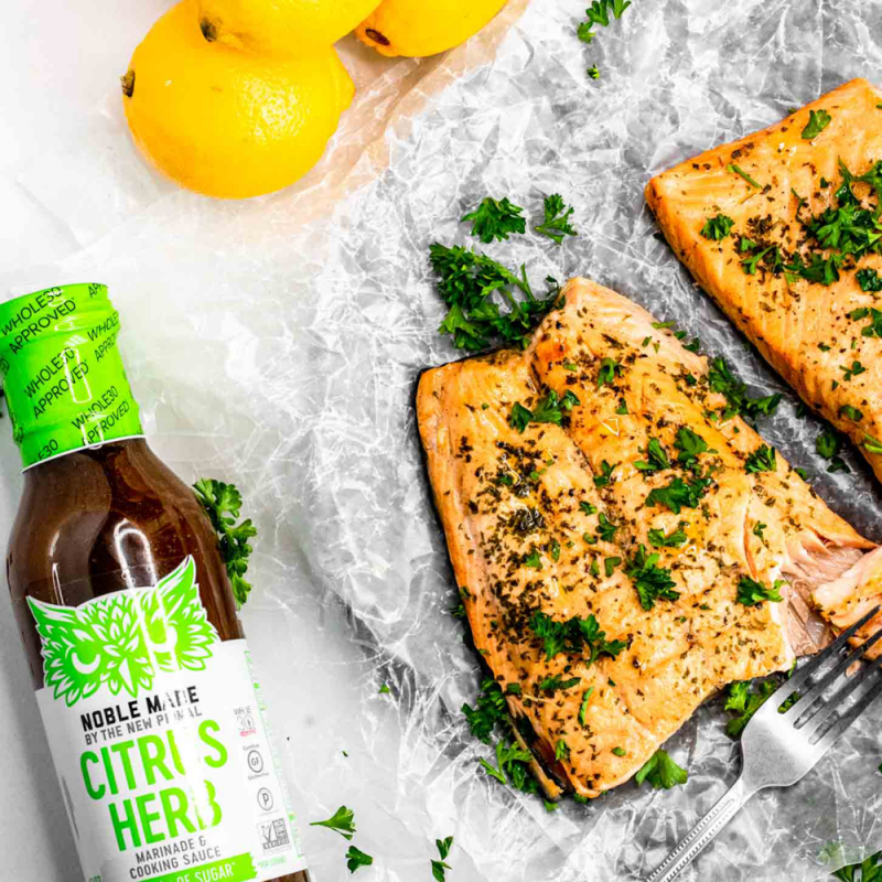Citrus Herb Marinade Salmon - The New Primal -Keto Certified by the Paleo Foundation