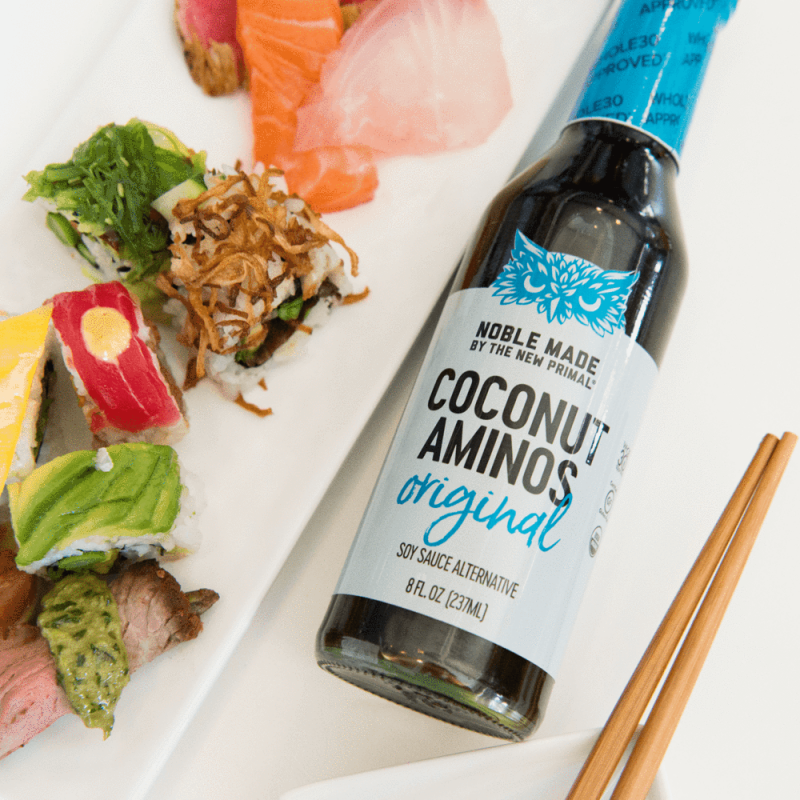 Coconut Aminos With Sushi - The New Primal - Certified Paleo by the Paleo Foundation