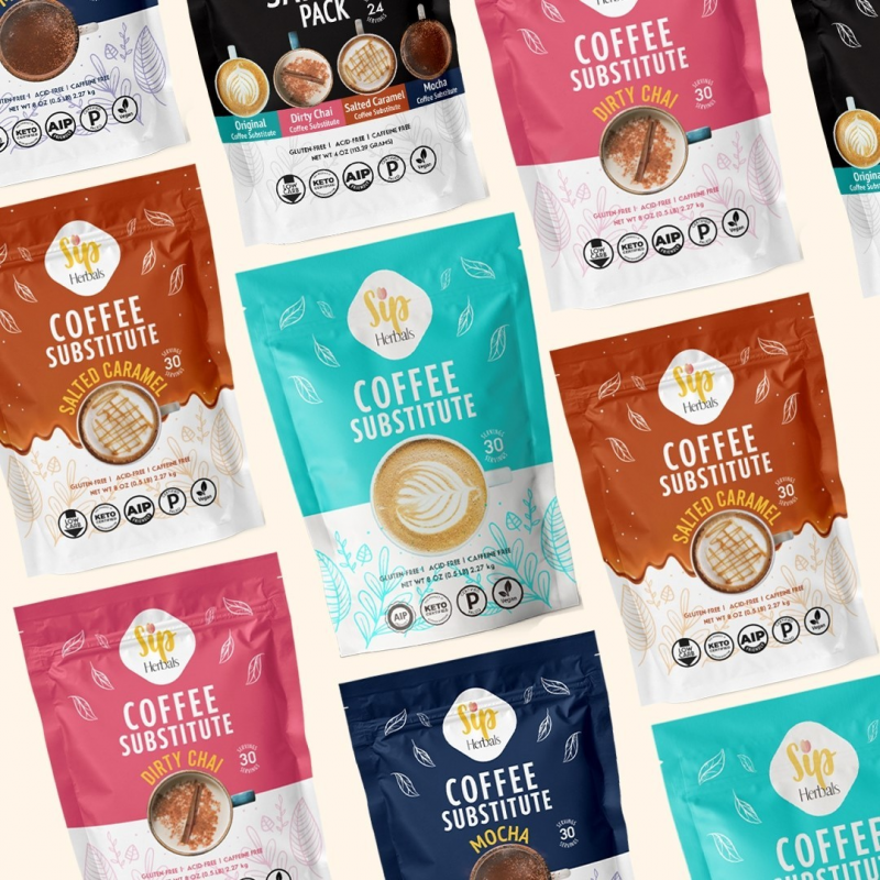 Coffee Substitute Flavors - Sip Herbal - Certified Paleo Keto Certified by the Paleo Foundation
