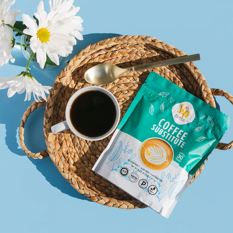 Coffee Substitute In Basket - Sip Herbal - Certified Paleo Keto Certified by the Paleo Foundation