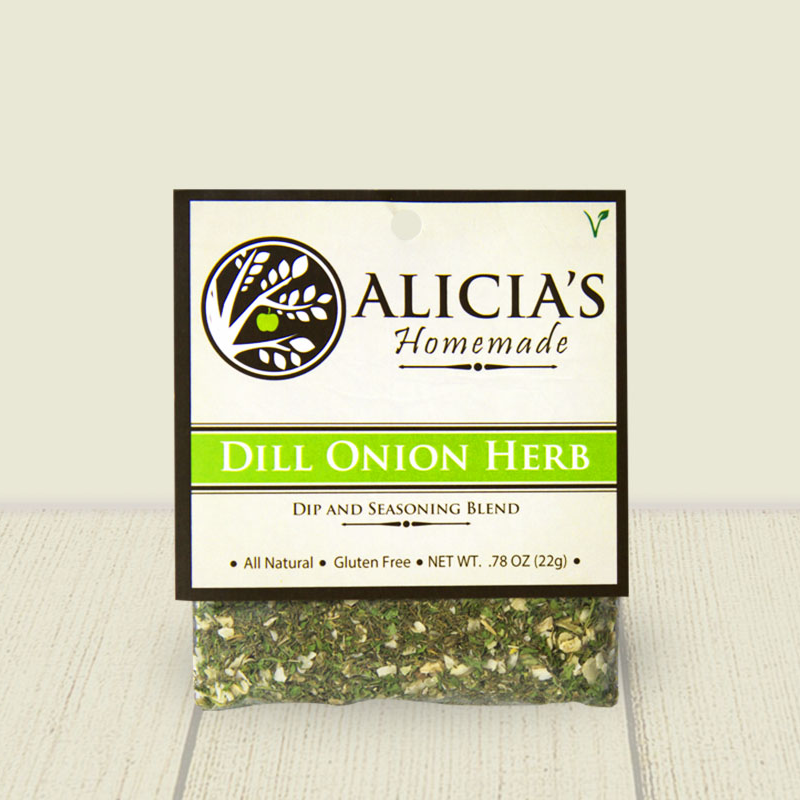 Dill Onion Herb Seasoning Blend - Alicia's Homemade - Keto Certified by the Paleo Foundation
