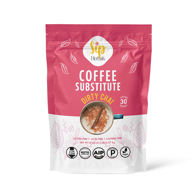 Dirty Chai Coffee Substitute - Sip Herbals - Certified Paleo Keto Certified by the Paleo Foundation