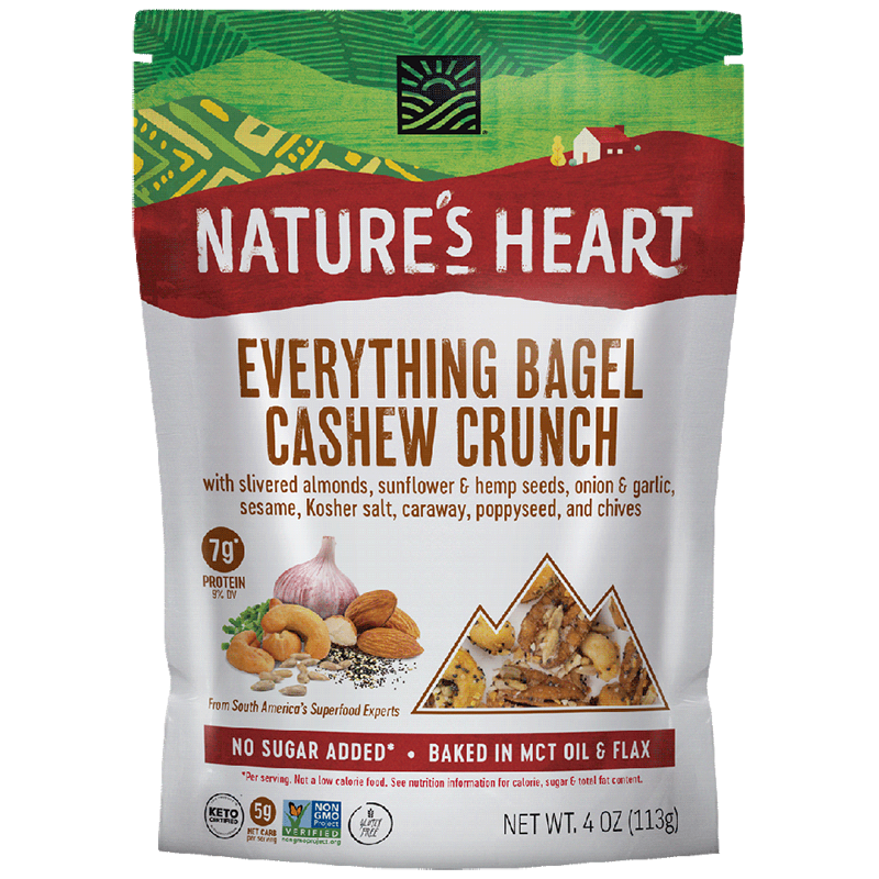 Everything Bagel Cashew Crunch - Nature's Heart - Keto Certified by the Paleo Foundation