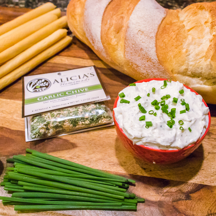 Garlic Chive With Dip - Alicia's Homemade - Keto Certified by the Paleo Foundation
